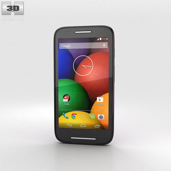 Motorola Moto E Violet & Black Modèle 3d