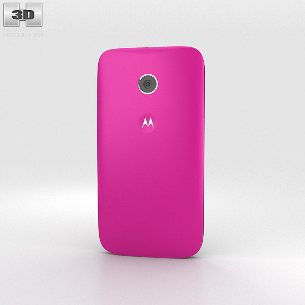 Motorola Moto E Raspberry & Black 3d model