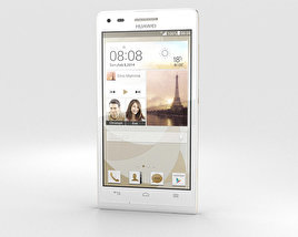 3D model of Huawei Ascend P7 Mini White