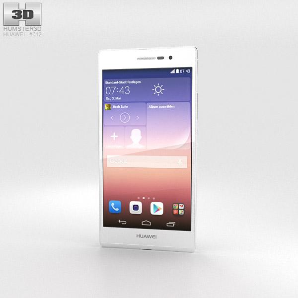 Huawei Ascend P7 White 3d model