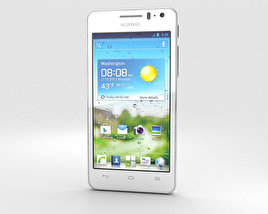 3D model of Huawei Ascend G600 White