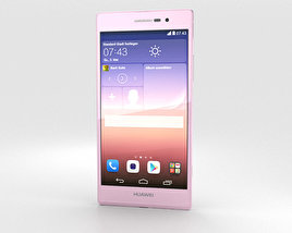 3D model of Huawei Ascend P7 Pink