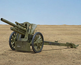 10.5 cm leFH 18 Light Howitzer 3D model