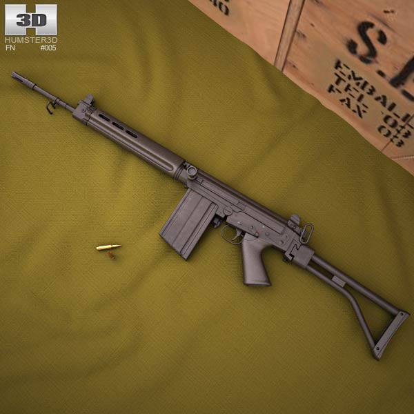 3D model of FN FAL 50.64