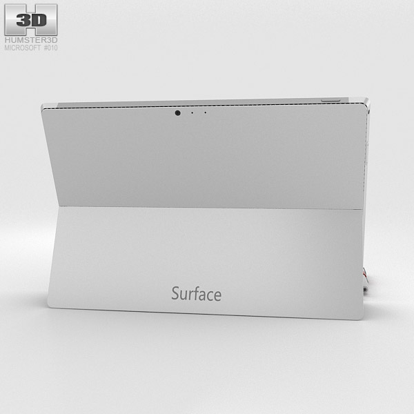 Microsoft Surface Pro 3 Red Cover 3d model