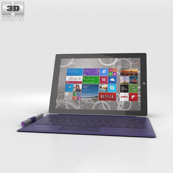 Microsoft Surface Pro 3 Purple Cover 3d model