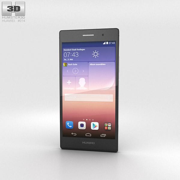 Huawei Ascend P7 Black 3d model