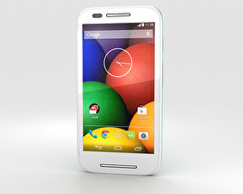 3D model of Motorola Moto E Turquoise & White