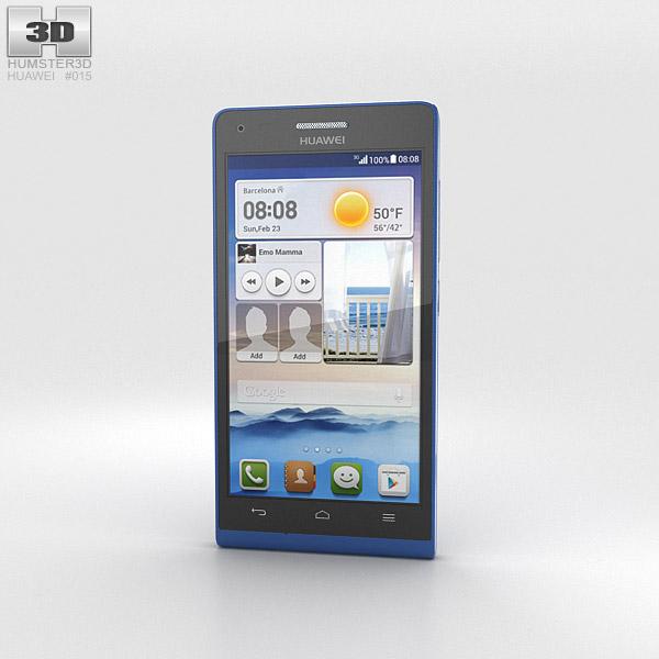 Huawei Ascend G6 Blue 3d model