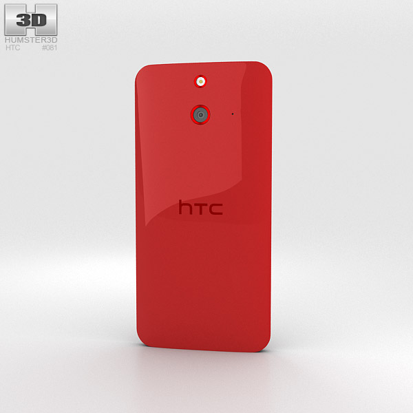 HTC One (E8) Red 3d model