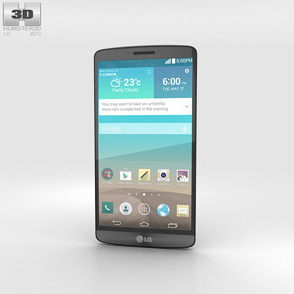 LG G3 Metallic Black 3d model