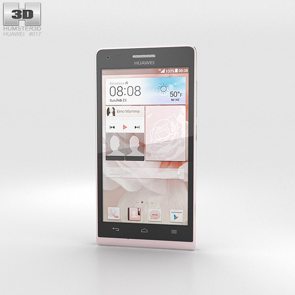 Huawei Ascend G6 Pink 3d model