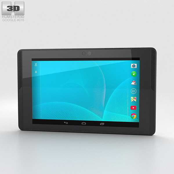 3D model of Google Project Tango Tablet White