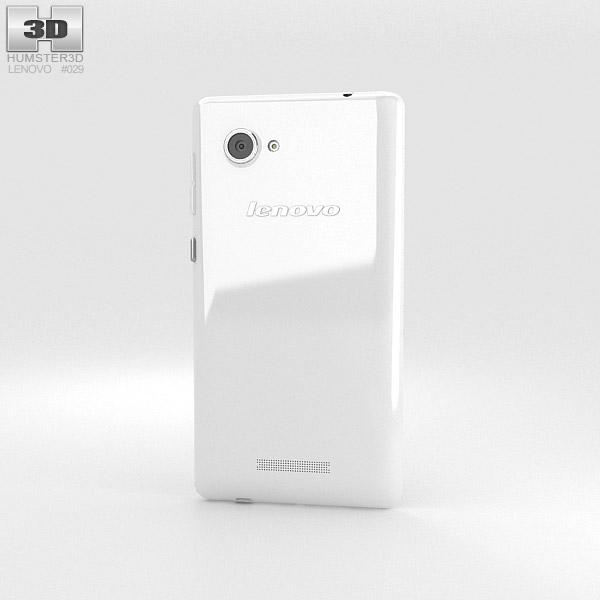 Lenovo A880 White 3d model