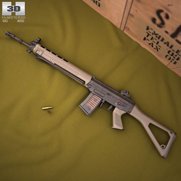 3D model of SIG SG 550
