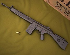 Heckler & Koch G3A3 3D model