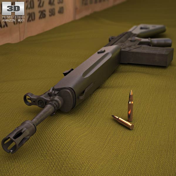 Heckler & Koch G3A3 3d model