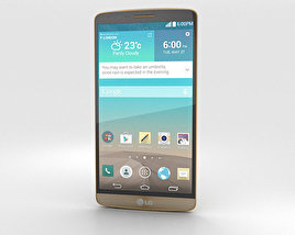 3D model of LG G3 Shine Gold