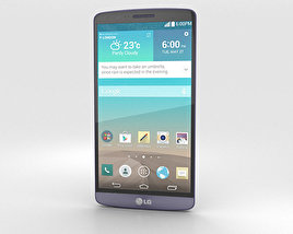 3D model of LG G3 Moon Violet