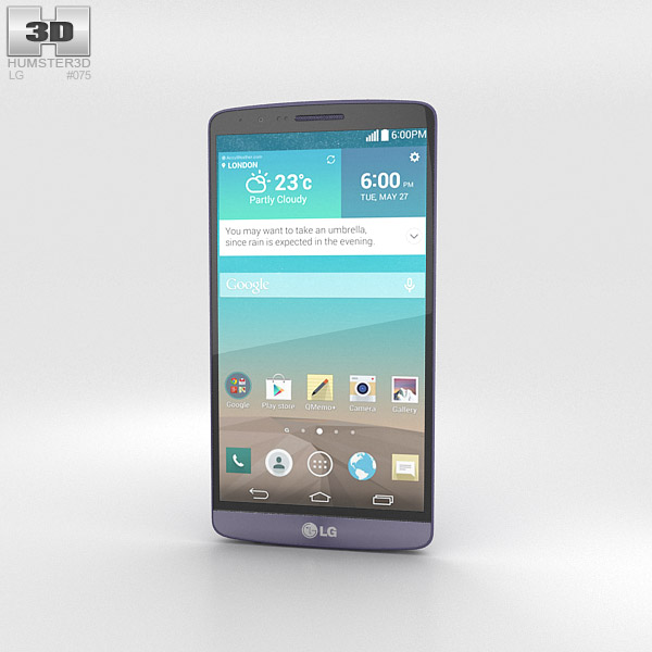 LG G3 Moon Violet 3d model