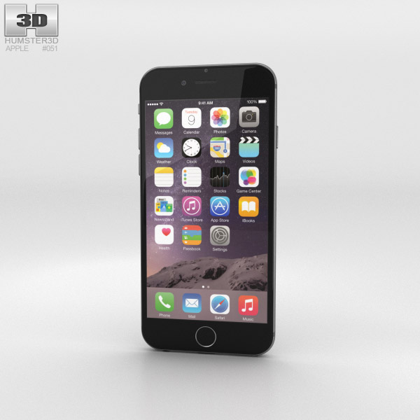 Apple iPhone 6 Space Gray 3D-Modell