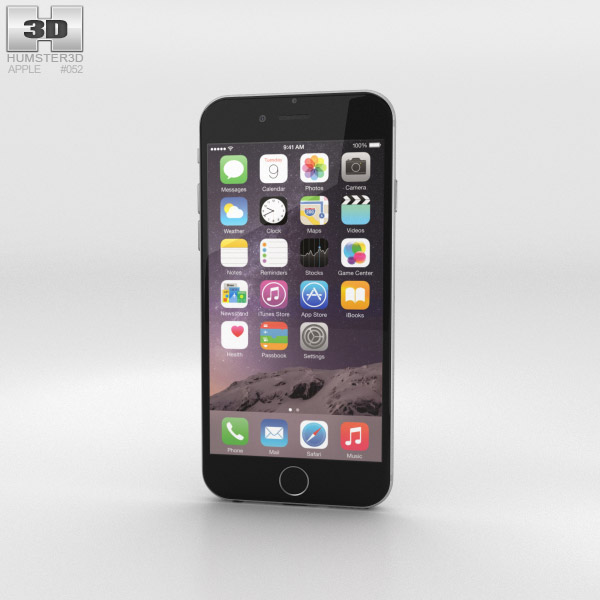 3D model of Apple iPhone 6 Silver