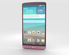 3D model of LG G3 Burgundy Red