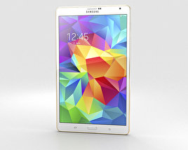 3D model of Samsung Galaxy Tab S 8.4-inch Dazzling White