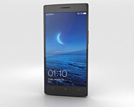 3D model of Oppo Find 7 Black