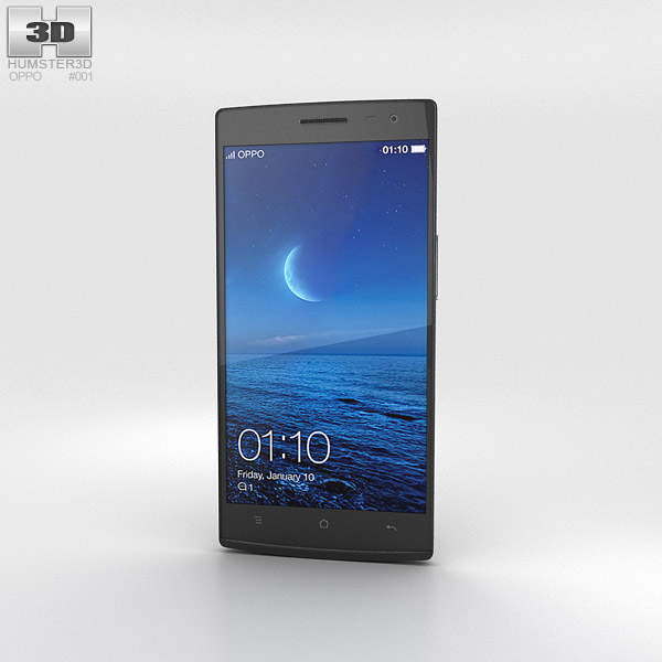3D model of Oppo Find 7 Black