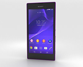 3D model of Sony Xperia T3 Purple