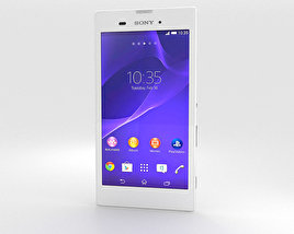 3D model of Sony Xperia T3 White