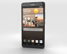 3D model of Huawei Ascend Mate 2 4G Crystal Black