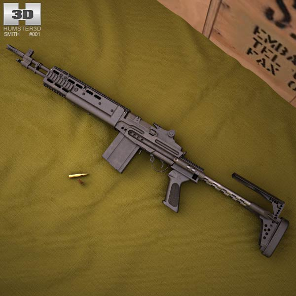 3D model of Mk 14 Enhanced Battle Rifle