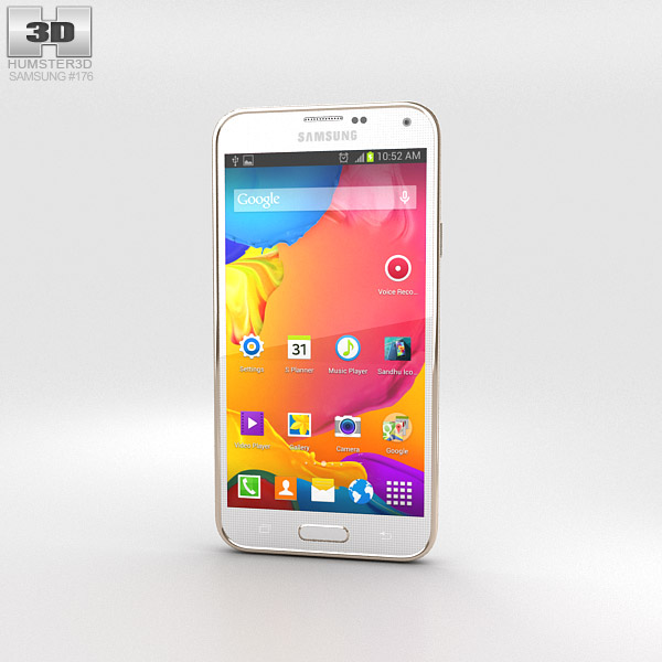 Samsung Galaxy S5 LTE-A Shimmering White 3d model