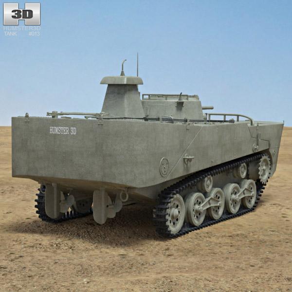 Type 2 Ka-Mi 3d model back view