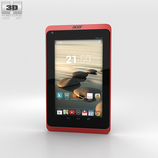 Acer Iconia B1-720 Red 3D model