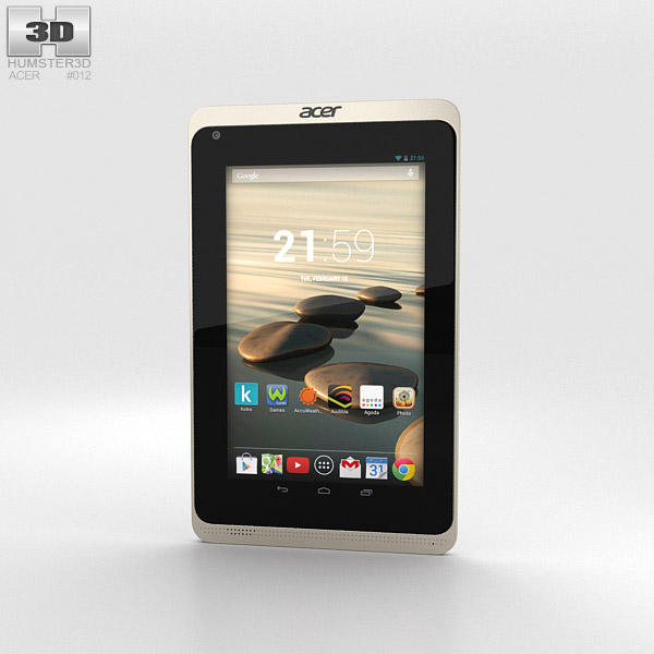 Acer Iconia B1-720 White 3D model
