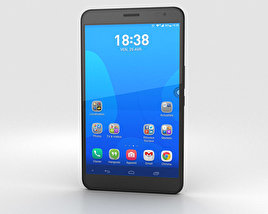 3D model of Huawei MediaPad X1 Diamond Black