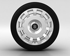 3D model of Rolls-Royce Ghost Wheel 20 inch 002