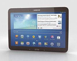 3D model of Samsung Galaxy Tab 3 10.1-inch Gold Brown