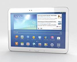 3D model of Samsung Galaxy Tab 3 10.1-inch White