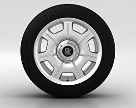 3D model of Rolls-Royce Phantom Wheel 21 inch 001