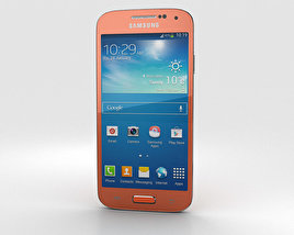3D model of Samsung Galaxy S4 Mini Orange