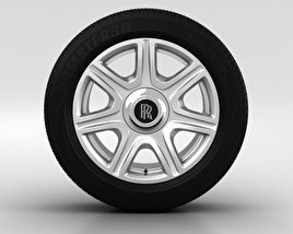 3D model of Rolls-Royce Phantom Wheel 21 inch 003