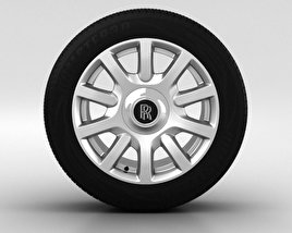 3D model of Rolls-Royce Phantom Wheel 21 inch 004