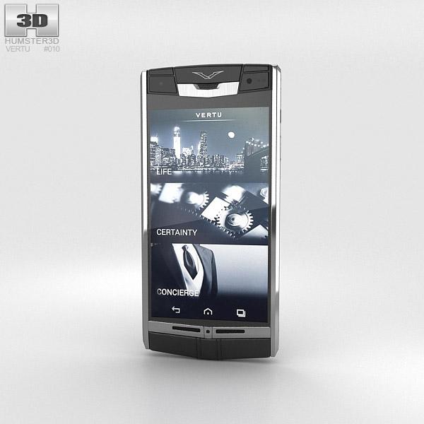 Vertu Signature Touch Jet Leather 3D model