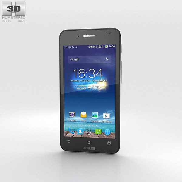 Asus PadFone Mini 4.3-inch Platinum White 3D model