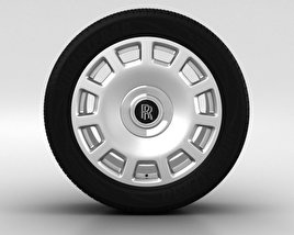 3D model of Rolls-Royce Phantom Wheel 21 inch 005