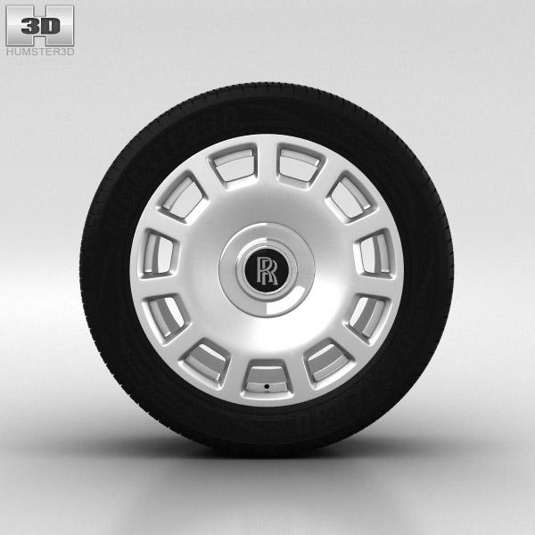 3D model of Rolls-Royce Phantom Wheel 21 inch 005